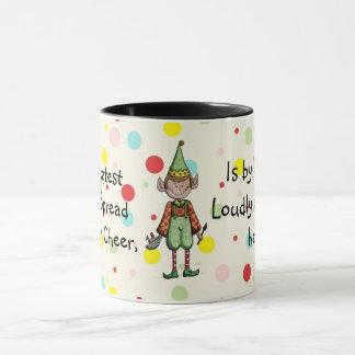 Elf répandant la tasse d'acclamation de Noël