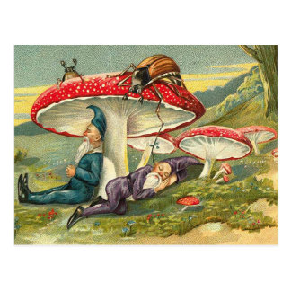 Elfes somnolents carte postale