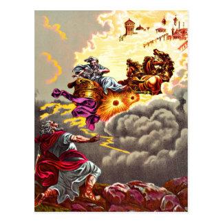 Élijah monte à la carte postale de ciel