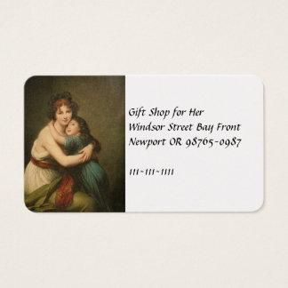 Elisabeth avec sa fille 1780-1819 cartes de visite