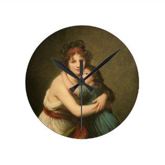 Elisabeth avec sa fille 1780-1819 horloge ronde