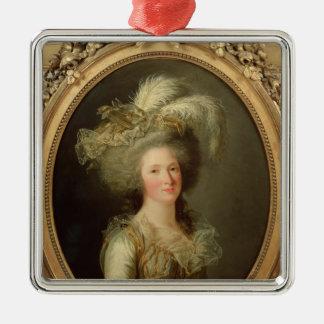Elisabeth de la France a appelé Madame Elisabeth Ornement Carré Argenté
