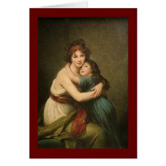 Elisabeth et sa fille carte de vœux