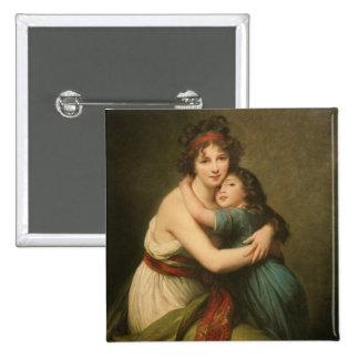 Elisabeth et sa fille pin's
