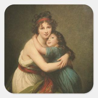 Elisabeth et sa fille sticker carré
