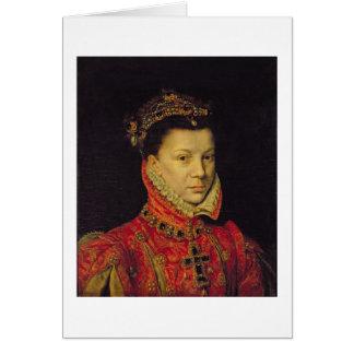 Elizabeth de Valois (1545-68) 1570 (huile sur la Cartes