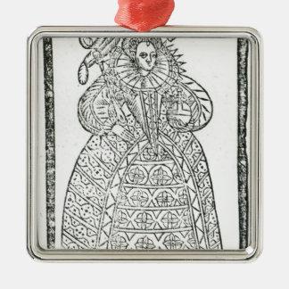 Elizabeth I Ornement Carré Argenté