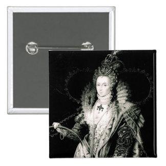 Elizabeth I tiré par W.Derby et gravé par Pin's