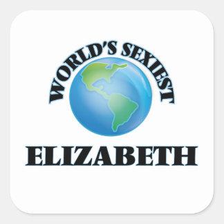 Elizabeth le plus sexy du monde stickers carrés