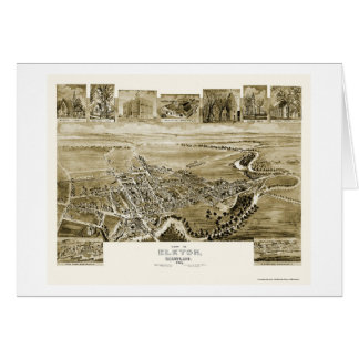 Elkton, carte panoramique de DM - 1907