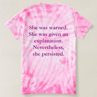 Elle a été avertie, le T-shirt rose de colorant de