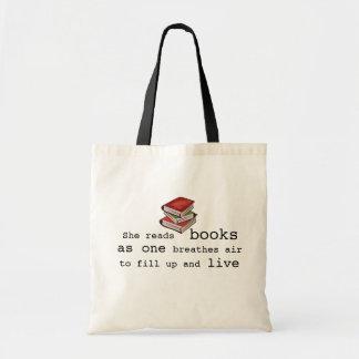Elle a lu des livres pour vivre sac fourre-tout à