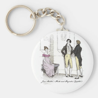 Elle est… Jane Austen tolérable P&P CH3 Porte-clé Rond