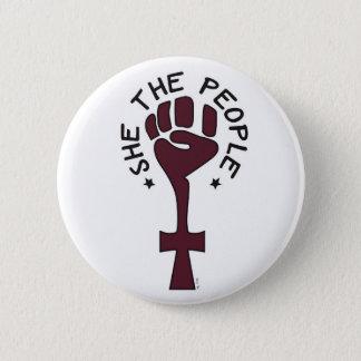 Elle le bouton de personnes pin's
