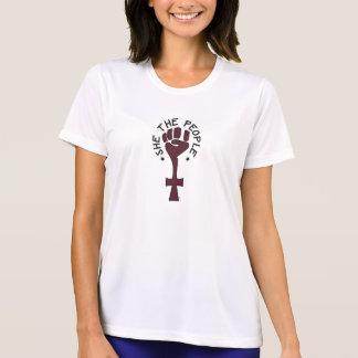 Elle le T-shirt de Dri-Ajustement de personnes