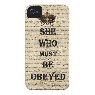 Elle qui doit être obéie coque Case-Mate iPhone 4