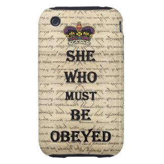 Elle qui doit être obéie coque tough iPhone 3