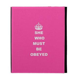 Elle qui doit être obéie étui iPad folio