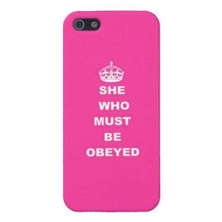 Elle qui doit être obéie iPhone 5 case