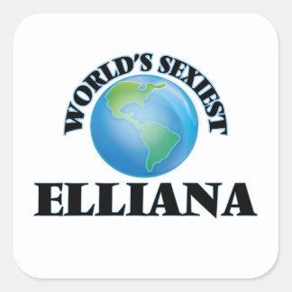 Elliana le plus sexy du monde autocollants carrés