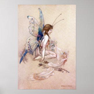 Ellie lui obtient des ailes par Warwick Goble Posters
