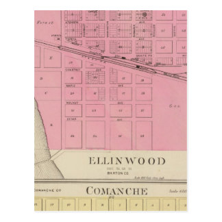 Ellinwood, Comanche, le Kansas Carte Postale