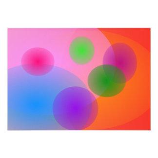 Ellipses colorées bristol personnalisé