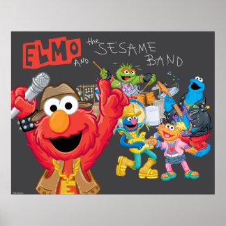 Elmo et la bande de sésame poster