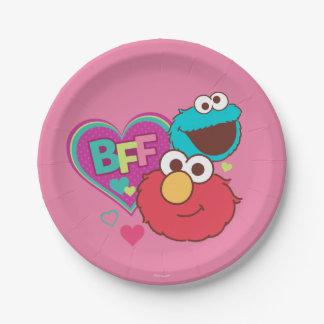 Elmo et monstre de biscuit - BFF Assiettes En Papier