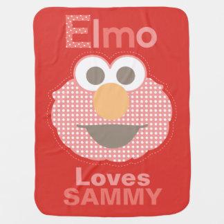 Elmo vous aime que   ajoutent votre nom couverture pour bébé