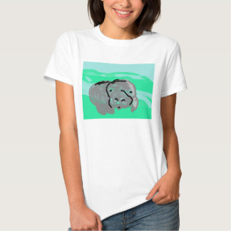 Elvis non de base domestique le lamantin t-shirt