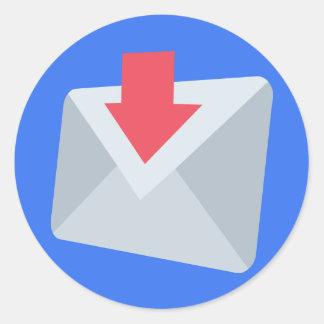 Email Emoji Sticker Rond