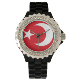 Émail fait sur commande de noir de fausse pierre montres bracelet