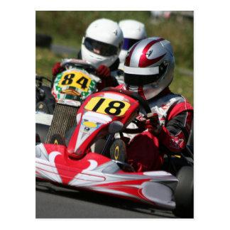 Emballage d'action de sport automobile de minimax carte postale