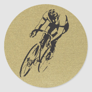 Emballage de bicyclette sticker rond