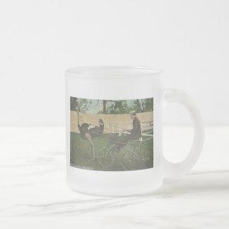Emballage de la carte postale vintage de mug en verre givré