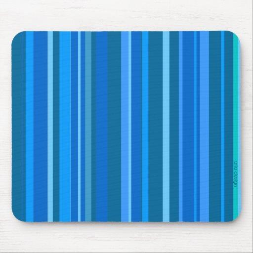 Emballage de Mousepad rayé bleu Tapis De Souris