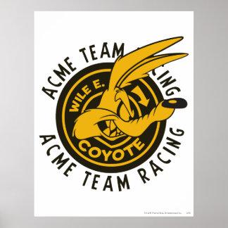 Emballage d'équipe d'E. Coyote Acme de Wile Posters