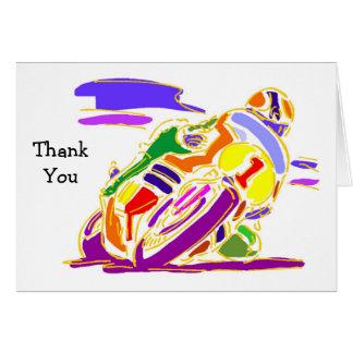 Emballage des cartes de Merci de moto