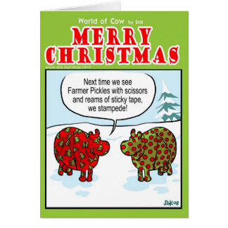 Emballage des vaches carte de vœux