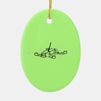 Emballage du bourdon Quadcopter Ornement Ovale En Céramique