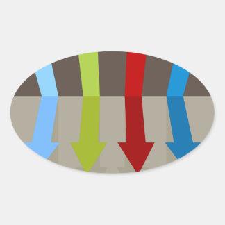 Emballage du diagramme de flèches sticker ovale