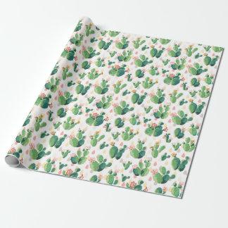 Emballage orienté de cactus original papier cadeau