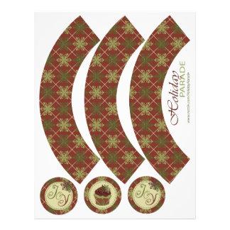 Emballage traditionnel de petit gâteau de Noël Prospectus En Couleur