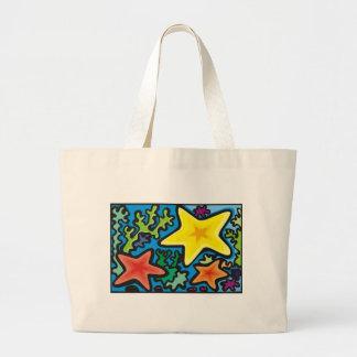 Emballages abstraits d'étoiles de mer sacs