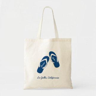Emballages bleus de sac d'accueil de bascule