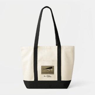 Emballages noirs de Mahi-Mahi et blancs vintages Sacs Fourre-tout
