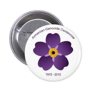 Emblème arménien de Centennial de génocide Badge Rond 5 Cm