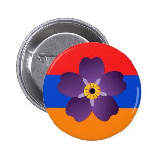 Emblème centennal et drapeau de génocide arménien badge rond 5 cm