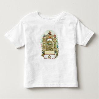 Emblème commercial de la société amalgamée de t-shirt